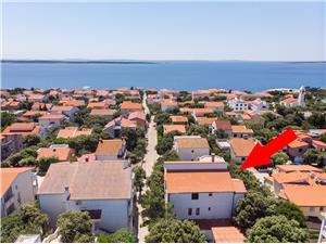 Appartements Ante Mandre - île de Pag, Superficie 40,00 m2, Distance (vol d'oiseau) jusqu'au centre ville 200 m