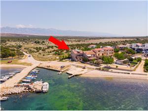 Lägenheter Ivan Pag - ön Pag, Storlek 60,00 m2, Luftavstånd till havet 20 m