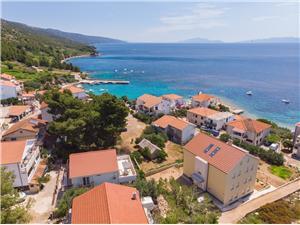 Appartementen Ljubas Zavala - eiland Hvar, Kwadratuur 53,00 m2, Lucht afstand tot de zee 100 m, Lucht afstand naar het centrum 100 m