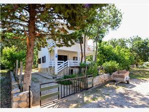 Apartmány Stjepan Potocnica - ostrov Pag, Rozloha 30,00 m2, Vzdušná vzdialenosť od mora 200 m, Vzdušná vzdialenosť od centra miesta 30 m