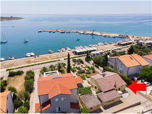 Lägenheter Ervin Novalja - ön Pag, Storlek 50,00 m2, Luftavstånd till havet 40 m, Luftavståndet till centrum 500 m