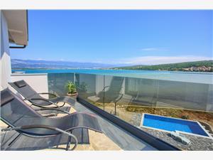 Apartman Penthouse Sabbia Čižići - Krk sziget, Méret 150,00 m2, Légvonalbeli távolság 5 m, Központtól való távolság 100 m