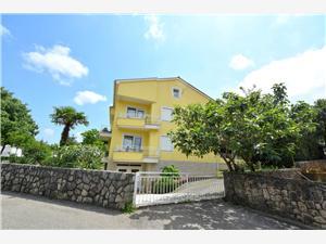Appartementen Olgica , Kwadratuur 34,00 m2, Lucht afstand tot de zee 250 m, Lucht afstand naar het centrum 100 m