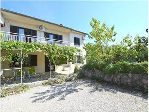 Ferienwohnungen und Zimmer Blažević Omisalj - Insel Krk, Größe 80,00 m2, Entfernung vom Ortszentrum (Luftlinie) 500 m