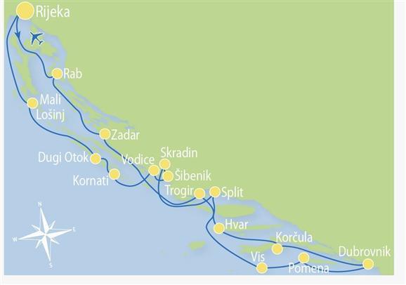 15 jours de croisière-Rijeka-Rijeka-R4
