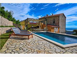 Willa URSULA Grižane, Kamienny domek, Powierzchnia 350,00 m2, Kwatery z basenem