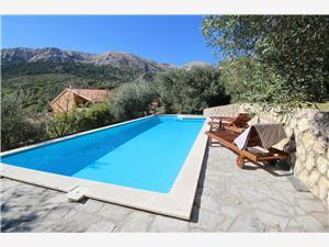 Maison Katarinini dvori Baska - île de Krk, Superficie 200,00 m2, Hébergement avec piscine