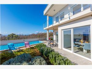 Дом HAUS GENNY Crikvenica, квадратура 190,00 m2, размещение с бассейном, Воздух расстояние до центра города 600 m