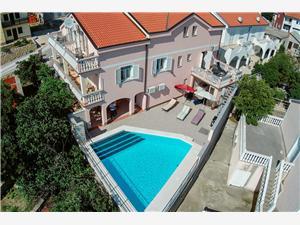 Apartmani Kata Rijeka i Crikvenica rivijera, Kvadratura 72,00 m2, Smještaj s bazenom, Zračna udaljenost od centra mjesta 100 m