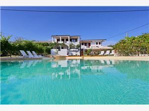 Appartements Goran Vir - île de Vir, Superficie 65,00 m2, Hébergement avec piscine