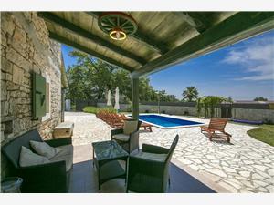 Villa Ambrogino Banki, Tinjan, Kvadratura 103,00 m2, Namestitev z bazenom