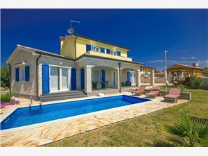 Villa Monika Nova Vas (Poreč), Kvadratura 130,00 m2, Smještaj s bazenom