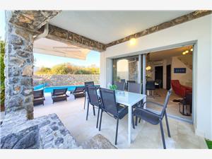 Vila Calma 2 Krk - otok Krk, Kvadratura 62,00 m2, Smještaj s bazenom, Zračna udaljenost od centra mjesta 550 m