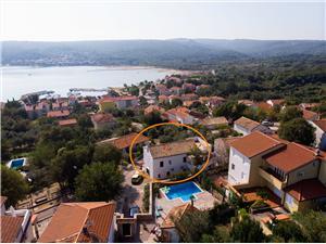 Appartamenti Ivan Čižići - isola di Krk, Dimensioni 25,00 m2, Distanza aerea dal mare 250 m, Distanza aerea dal centro città 250 m