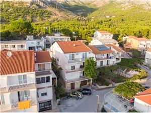 Ferienwohnungen Joze Zivogosce, Größe 45,00 m2, Luftlinie bis zum Meer 250 m, Entfernung vom Ortszentrum (Luftlinie) 150 m