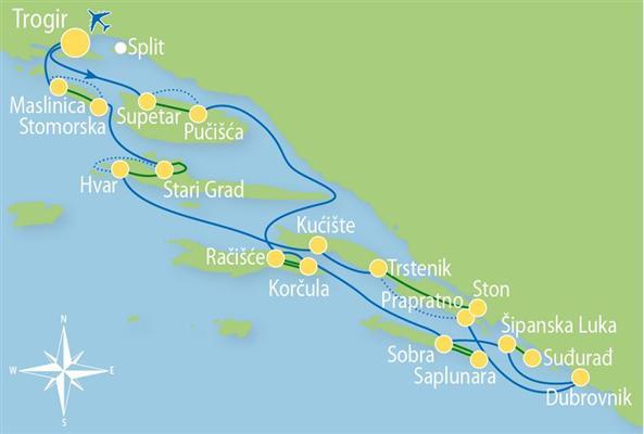 Kryssning Kryssning Med Cykling I Mellersta Dalmatien Till