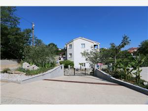 Апартаменты Mrakovcic Mirjana Silo - ostrov Krk, квадратура 50,00 m2, Воздуха удалённость от моря 130 m, Воздух расстояние до центра города 120 m
