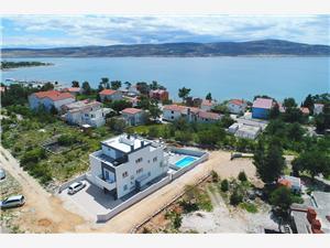 Apartmány Villa Silver Seline, Rozloha 80,00 m2, Ubytovanie sbazénom, Vzdušná vzdialenosť od mora 200 m