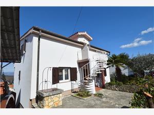 Apartmán Slunjski Njivice - ostrov Krk, Prostor 60,00 m2, Vzdušní vzdálenost od moře 250 m, Vzdušní vzdálenost od centra místa 400 m