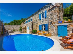 Vila SIESTA Grižane, Kvadratura 180,00 m2, Namestitev z bazenom
