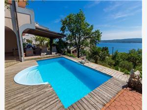 Ferienwohnungen Djusi Riviera von Rijeka und Crikvenica, Größe 55,00 m2, Privatunterkunft mit Pool