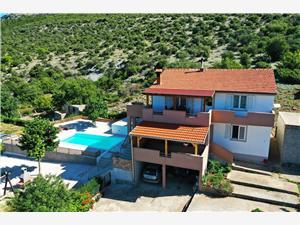 Apartmán Heron Pakostane, Prostor 80,00 m2, Soukromé ubytování s bazénem
