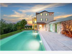 Villa Demetra s bazenom i predivnim pogledom na Motovun Motovun, Superficie 259,00 m2, Hébergement avec piscine