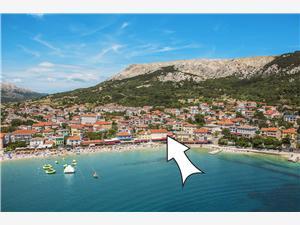 Appartamento Bojan Baska - isola di Krk, Dimensioni 90,00 m2, Distanza aerea dal mare 50 m, Distanza aerea dal centro città 10 m