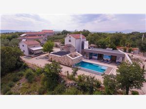Ház Jerini House Krk - Krk sziget, Méret 114,00 m2, Szállás medencével