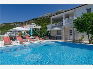 Willa Perna Kuciste, Powierzchnia 150,00 m2, Kwatery z basenem, Odległość do morze mierzona drogą powietrzną wynosi 120 m