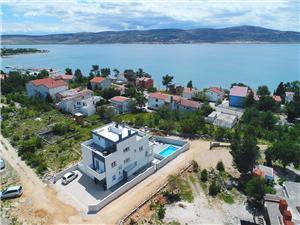Apartmány Grandevista-with swimmingpool Seline, Rozloha 35,00 m2, Ubytovanie sbazénom, Vzdušná vzdialenosť od centra miesta 600 m