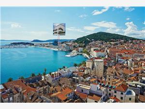 Апартаменты San Split, квадратура 57,00 m2, Воздух расстояние до центра города 690 m