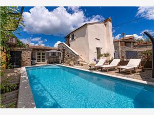 Villa Katarina Gracisce Zelená Istrie, Prostor 140,00 m2, Soukromé ubytování s bazénem