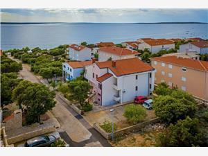 Apartament Matko Mandre - wyspa Pag, Powierzchnia 45,00 m2, Odległość do morze mierzona drogą powietrzną wynosi 100 m, Odległość od centrum miasta, przez powietrze jest mierzona 500 m