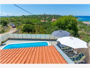 Villa Ana Drvenik Mali - ön Drvenik Mali, Storlek 100,00 m2, Privat boende med pool, Luftavstånd till havet 150 m