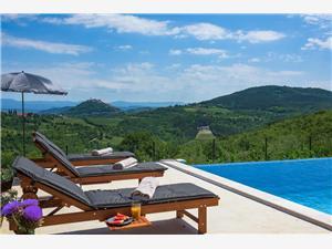 Motovun view villa Spinovci, Größe 180,00 m2, Privatunterkunft mit Pool