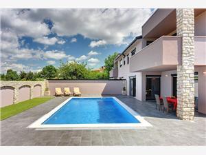 Villa Christine Valbandon, Prostor 210,00 m2, Soukromé ubytování s bazénem