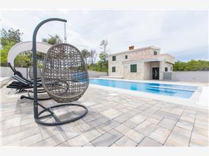 Haus Luxury Stone Villa Vir Dalmatien, Größe 200,00 m2, Privatunterkunft mit Pool, Luftlinie bis zum Meer 30 m