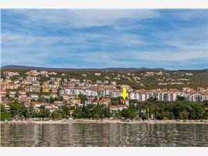 Apartament Cherry Crikvenica, Powierzchnia 60,00 m2, Odległość do morze mierzona drogą powietrzną wynosi 150 m, Odległość od centrum miasta, przez powietrze jest mierzona 800 m