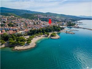 Appartementen en Kamer ART Crikvenica, Kwadratuur 18,00 m2, Lucht afstand tot de zee 100 m, Lucht afstand naar het centrum 30 m