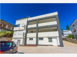 Lägenheter Cvetkovic Crikvenica, Storlek 45,00 m2, Luftavstånd till havet 280 m, Luftavståndet till centrum 800 m