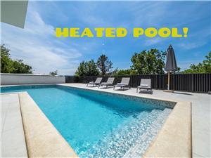Dům GRETA Risika, Prostor 170,00 m2, Soukromé ubytování s bazénem