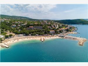 Апартаменты JADRY Jadranovo (Crikvenica), квадратура 80,00 m2, Воздуха удалённость от моря 20 m, Воздух расстояние до центра города 600 m