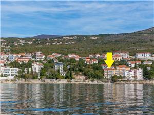 Апартамент Tajana Crikvenica, квадратура 60,00 m2, Воздуха удалённость от моря 15 m