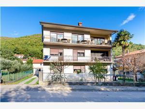 Apartmani Gianna Mošćenička Draga (Opatija), Kvadratura 50,00 m2, Zračna udaljenost od centra mjesta 100 m