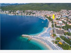 Ferienwohnung Edmond Selce (Crikvenica), Größe 55,00 m2, Luftlinie bis zum Meer 30 m, Entfernung vom Ortszentrum (Luftlinie) 100 m