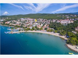 Appartements Ani Crikvenica, Superficie 16,00 m2, Distance (vol d'oiseau) jusque la mer 200 m, Distance (vol d'oiseau) jusqu'au centre ville 800 m