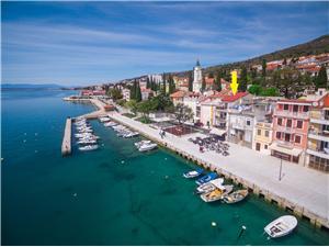 Ferienwohnungen MARINO Selce (Crikvenica), Größe 50,00 m2, Luftlinie bis zum Meer 50 m, Entfernung vom Ortszentrum (Luftlinie) 1 m