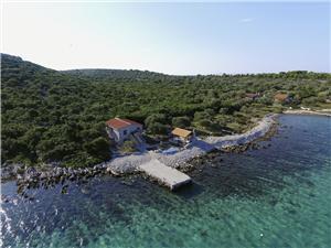 Kuća za odmor Orange Žižanj - otok Žižanj, Kuća na osami, Kvadratura 50,00 m2, Zračna udaljenost od mora 10 m