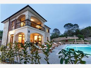 Vila Ambra Kvarnerské ostrovy, Kamenný dom, Rozloha 140,00 m2, Ubytovanie sbazénom